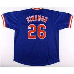 "Dave Kingman Signed Mets Jersey Inscribed ""442 HR"" (JSA COA)"