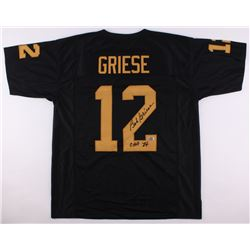 """Bob Griese Signed Purdue Boilermakers Jersey Inscribed """"CHOF 84"""" (Radtke COA)"""