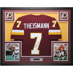 "Joe Theismann Signed Redskins 35"" x 43"" Custom Framed Jersey Inscribed ""83 NFL-MVP"" (JSA COA)"