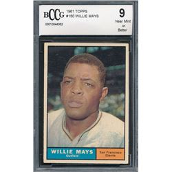 1961 Topps #150 Willie Mays (BCCG 9)