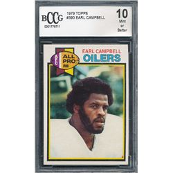 1979 Topps #390 Earl Campbell RC (BCCG 10)