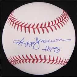"Reggie Jackson Signed OML Baseball Inscribed ""HOF 93"" (JSA Hologram)"