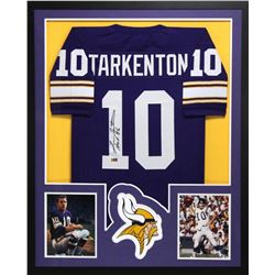 "Fran Tarkenton Signed Vikings 34x42 Custom Framed Jersey Inscribed ""HOF 86"" (Radtke COA)"
