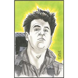 "Tom Hodges - Ray ""Ghostbusters"" Signed ORIGINAL 5.5"" x 8.5"" Color Drawing on Paper (1/1)"