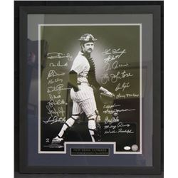 1978 Yankees 22x26 Custom Framed Photo Dispaly Team-Signed by (20) with Ron Guidry, Mike Heath, Ron