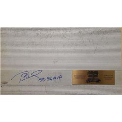 Tom Brady Signed Patriots  LE #1/1 Authentic Game-Used Foxboro Stadium Bench Seat From Last Game Eve