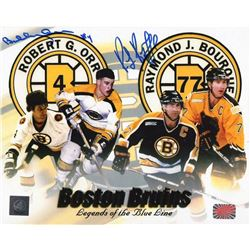 "Bobby Orr  Ray Bourque Signed Bruins ""Legends of the Blue Line"" 16x20 Photo (Great North Road  YSMS"