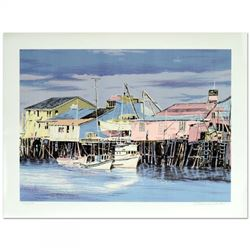 "William Nelson Signed ""Monterey Wharf"" Limited Edition 22x29 Serigraph"