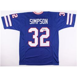 O.J. Simpson Signed Bills Jersey (JSA COA)