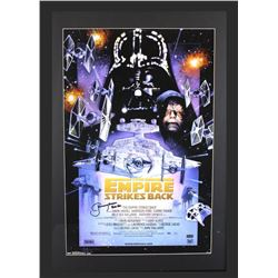 "Jeremy Bulloch Signed ""Star Wars: The Empire Strikes Back"" 29x42 Custom Framed Poster Display Inscri"