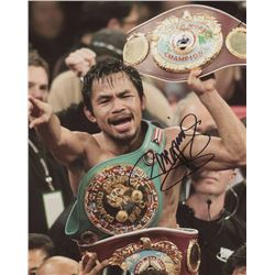 Manny Pacquiao Signed 8x10 Photo (Pacquiao COA)
