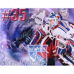 Mike Richter Signed Rangers 11x14 Photo (PSA COA)