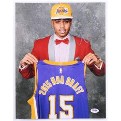 D'Angelo Russell Signed Lakers 2015 Draft 11x14 Photo (PSA COA)