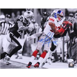 Mario Manningham Signed Giants 11x14 Photo (JSA COA)