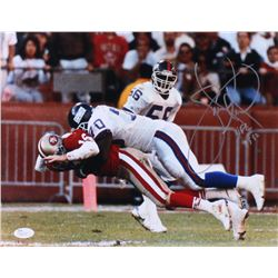 Leonard Marshall Signed Giants 11x14 Photo with Inscription (JSA COA)
