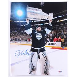 Jonathan Quick Signed Kings Stanley Cup 11x14 Photo (PSA COA)
