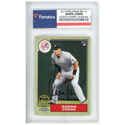Aaron Judge Signed 2017 Topps Chrome '87 Topps #87T8 (Fanatics Encapsulated)