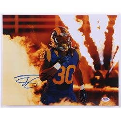 Todd Gurley Signed Rams 11x14 Photo (PSA COA)
