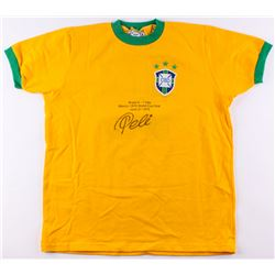 Pele Signed Team Brazil Career Hightlight Stat Jersey (PSA COA)
