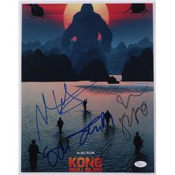 """Kong Skull Island"" 11x14 Photo Signed by (6) with Thomas Mann, John Ortiz, Jason Mitchell, Shea Whi"