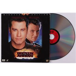 "John Travolta Signed ""Broken Arrow"" Laserdisc (JSA COA)"