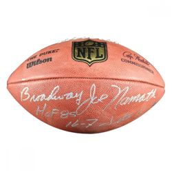 """Broadway"" Joe Namath Signed NFL ""The Duke"" Football Inscribed ""HOF 85""  ""16-7 Jets"" (Steiner COA)"