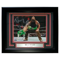 "Bray Wyatt Signed WWE 13"" x 16"" Custom Framed Photo Display (SI COA)"