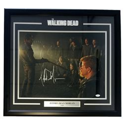 "Jeffrey Dean Morgan Signed ""The Walking Dead"" 25x27 Custom Framed Photo Display (JSA COA)"