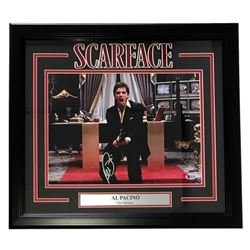 "Al Pacino Signed ""Scarface"" 19"" x 21"" Custom Framed Photo Display (Beckett COA)"