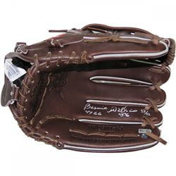 "Bernie Williams Signed Rawlings Custom Stitched Fielding Glove Inscribed ""4x GG"" (Steiner COA)"