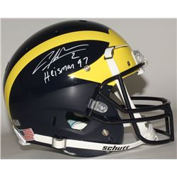 "Charles Woodson Signed Michigan Wolverines Full-Size Helmet Inscribed ""Heisman 97"" (Radtke COA)"