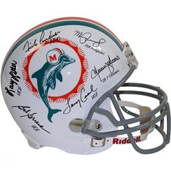 1972 Dolphins Full-Size Helmet Team-Signed by (6) Including Bob Griese, Larry Csonka, Manny Fernande