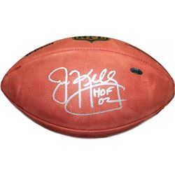 "Jim Kelly Signed NFL ""The Duke"" Football Inscribed ""HOF 02"" (Steiner COA)"