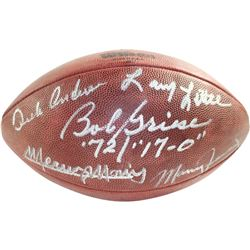 1972 Dolphins NFL Duke Football Signed by (5) with Bob Griese, Manny Fernandez, Mercury Morris, Larr