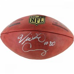 "Victor Cruz Signed NFL ""The Duke"" Football (Steiner COA)"