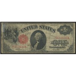 1917 $1 One Dollar Legal Tender Red Seal Large Size Bank Note Bill