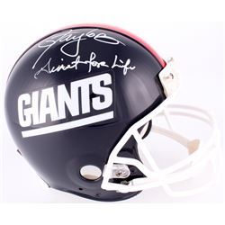 "Lawrence Taylor LE Signed Giants Throwback Full-Size Helmet Inscribed ""Giants for Life"" (Radtke COA)"
