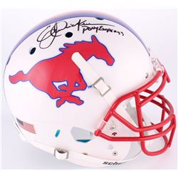"Eric Dickerson Signed SMU Mustangs Full-Size On-Field Helmet Inscribed ""Pony Express"" (Radtke COA)"