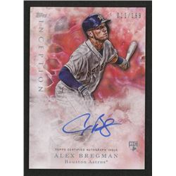 2017 Topps Inception #104 Alex Bregman AU / 199 RC