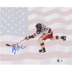 Mike Eruzione Signed Team USA 8x10 Photo (SI COA)
