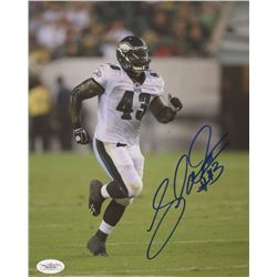 Leonard Weaver Signed Eagles 8x10 Photo (JSA COA)