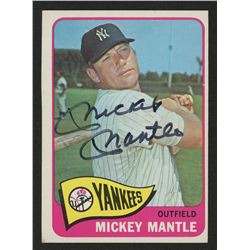 Mickey Mantle Signed 1965 Topps #350 (JSA LOA)