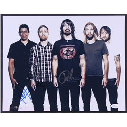 Foo Fighters Signed 11x14 Photo with Dave Grohl, Nate Mendel  Pat Smear (JSA COA)