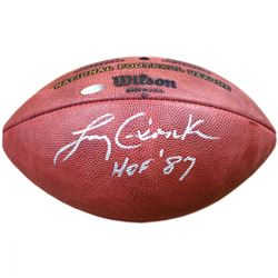 "Larry Csonka Signed NFL ""The Duke"" Football Inscribed ""HOF 87"" (Steiner)"