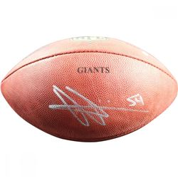 Olivier Vernon Signed Engraved NFL Football (Steiner COA)