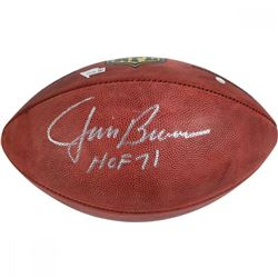"Jim Brown Signed Wilson NFL ""The Duke"" Football Inscribed ""HOF 71"" (Steiner COA)"