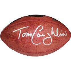 Tom Coughlin Signed Super Bowl XLVI Football (Steiner COA)