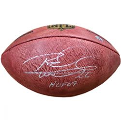 "Rod Woodson Signed NFL ""The Duke"" Football Inscribed ""HOF 09"" (Steiner COA)"
