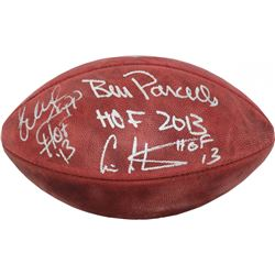 "Cris Carter, Warren Sapp  Bill Parcells Signed LE ""The Duke"" NFL Football with Inscriptions (Steiner"