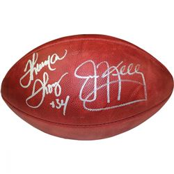 "Jim Kelly  Thurman Thomas Signed ""The Duke"" NFL Football (Steiner COA)"